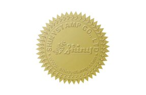 EMBOSSING LABELS D41mm GOLD